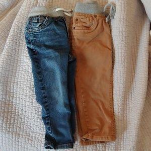 2 pairs of Cat and Jack 2T denim pants